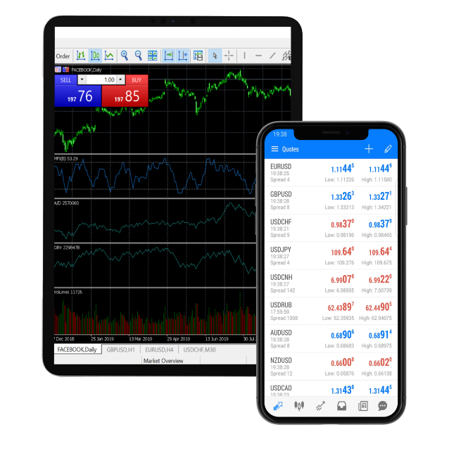 Errante trading on Tablet and phone